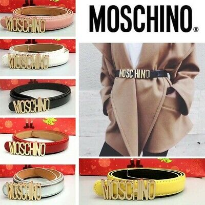Ladies Women Fashion Letters MOSCHINO Belt Alloy Dress Belts Buckle Waistband
