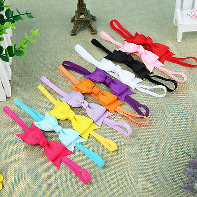 UK Quality Cute Baby girl infant thin bow headband hair band various colours