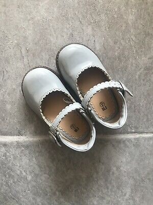Mothercare Girls Grey Size 4 Baby Shoes