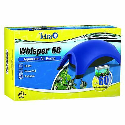 Whisper 60 Air Pump With Minimal Noise Tetra Water Fish Tank Aquarium Filter