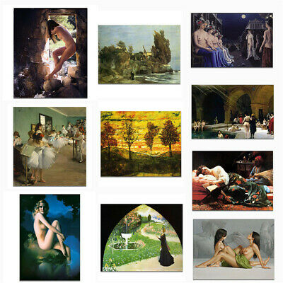 Beauty Scenery View Canvas Classical Oil Painting Poster Picture Art Wall Decor
