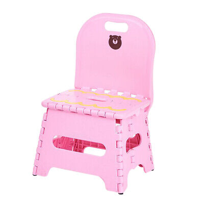 Sensational Kids Foldable Chairs Step Stool With Backrest Flat Folding Ocoug Best Dining Table And Chair Ideas Images Ocougorg