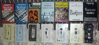 Lot K7 Audio , Lot Cassettes Audio The Beatles, Wings, Mc Cartney