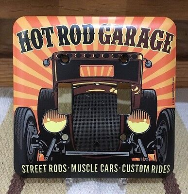 Hot Rod Garage Light Switch Plate Cover Rat Rod Tools Bar Pub Man Cave Gas Oil