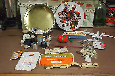 Vintage Miscellaneous lot of Sewing Supplies – Needles,  thread, patches & more
