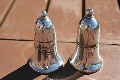 Edwardian Silver Plated Salt & Pepper From Hotel