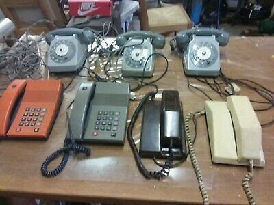 AncienLot de 7 ancien telephone vintage , cadran , contempra, digitel 2000...