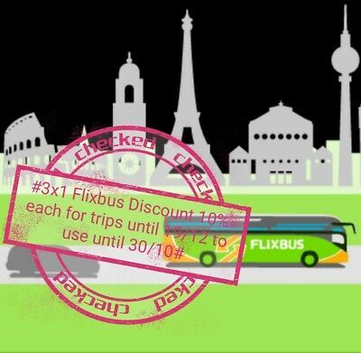 Ħ6x1Flixbus Coupon/Sconto/Kupon valid from 02/05 until 18/07 3euro(12€) min 30€