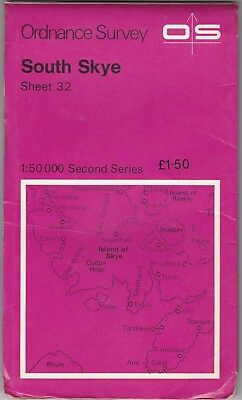 Ordnance Survey Landranger Map Sheet 32 South Skye OS