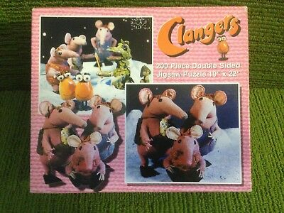 Clangers 200 Piece Double Sided Jigsaw Puzzle - Oliver Postgate/Peter Firmin Vg