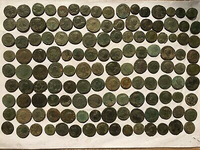 Nice anciente lot 130 Roman uncleaned coins
