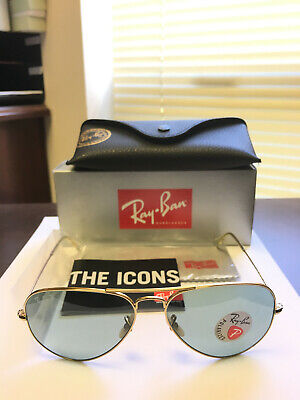 522e65a91 RAY-BAN SUNGLASSES RB 3025 Large Metal 112/19 55-14 Gold with Multi ...