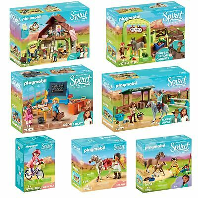Playmobil DreamWorks Spirit Sets - Riding Arena, Barn, Vaulting Solana & More!