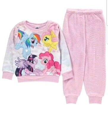 =Girls Branded Character Soft Microfleece Snug Pyjama Set Size Age 9-10 Years