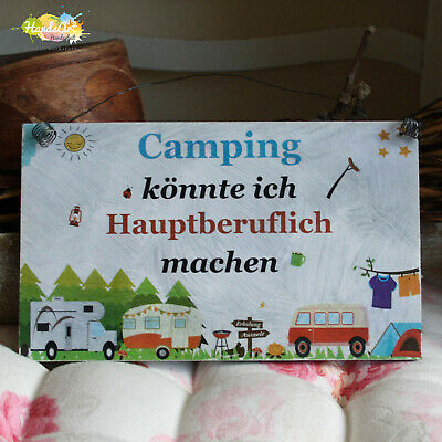 Retro Blechschild Spruch Happy Campers Live Here Vintage Deko