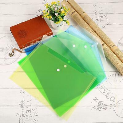 Plastic Transparent A4 Carry Folders Document Paper File Storage Bag EA9 02