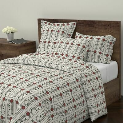 Rose Antique Vintage Glasgow Craftsman Victorian Sateen Duvet Cover by Roostery