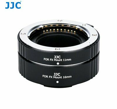 JJC AET-FXS Black Automatic Extension Tube 11mm&16mm for Fujifilm X mount