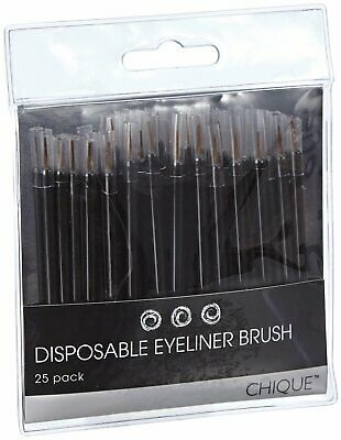 Brand New & Sealed Chique™ 25 x Disposable Eyeliner Brush