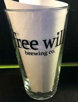 FREE WILL Brewing Company - PERKASIE PA 16oz Shaker Craft Beer Logo Pint Glass
