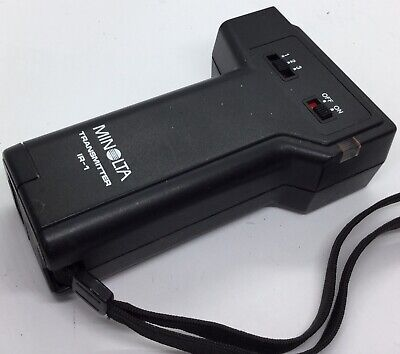 MINOLTA Wireless Transmitter IR-1, 3 Channel, Uses AA Batteries