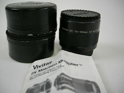 Vivitar MC 70-150mm 2x Matched Multiplier Pentax PK Mt.