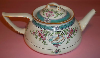 Minton Antique Teapot~Japonica-B893-6-Made for Burley & Co.in Chgo.Birds/Flowers