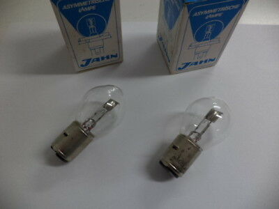 JAHN 1220 BILUX HEAD LAMP BULBS(2) 6 VOLTS,35/35 WATTS,BA20d CAR,MOPED,TRACTOR