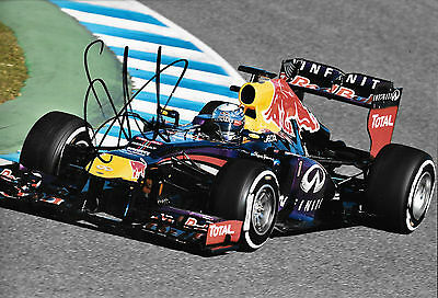 Sebastian Vettel SIGNED 12x8  Red Bull RB9  Spanish GP Barcelona  2013