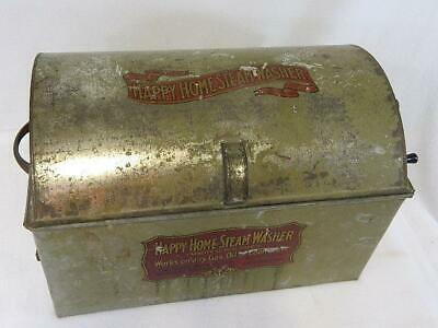 Antique Happy Home Steam Washer Dome Top Roller Machine - Excellent Graphics
