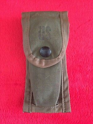 US Military Army 9MM Mag Magazine Ammo Pouch Pocket w/ Alice Clips OD Green