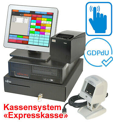 Cash Register System till Touchscreen Monitor Bonprinter Drawer for Retail #Ka18