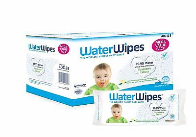 Water Wipes Sensitive Gentle Skin All Over Baby Soapberry Wipes 240 or 720 Wipes