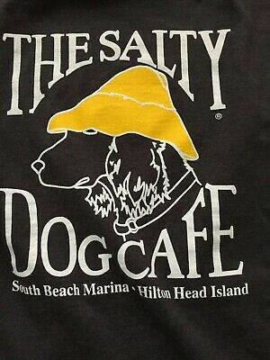 e17567a6c26 THE SALTY DOG Cafe Mens Size XL Blue Short Sleeve Graphic Cotton T ...