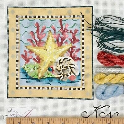 *2019* Multi-Color Leaves Collage handpainted Needlepoint Canvas by Kelly Clark