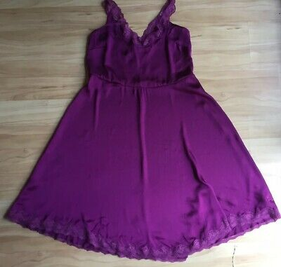 NWT Peter Alexander Purple Lace Trimmed Nightgown Nightie Size S RRP $89.95