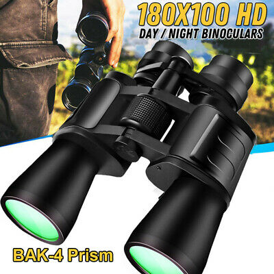 Outdoor 180 x 100 Zoom Day Night Vision Travel Binoculars Hunting Telescope+Case