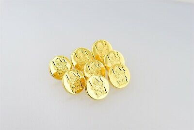 Vintage/New-Old-Stock/Estate-Found Gold Plated Firmin London 14mm Buttons