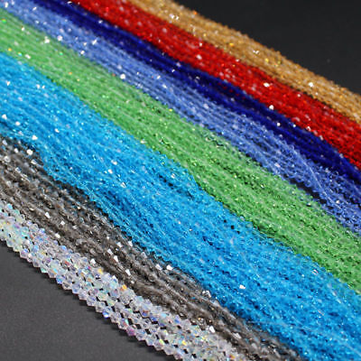 Wholesale! 100-1000pcs Crystal 4/6/8mm 5301# Bicone Beads YOU Pick