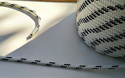 15m X 9mm WHITE DOUBLE BRAID POLYESTER YACHT MARINE SAILING ROPE 2000 kg-- NEW