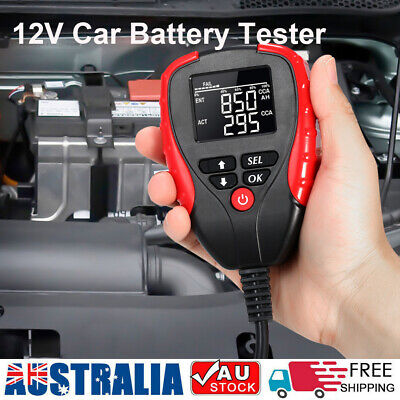 12V Digital Car Battery Tester AH/CCA Mode Auto Battery Load Diagnostic Tools