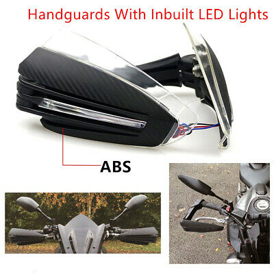 ABS LED Light Motorcycle Hand Guard Protector Wind Shield For 7/8'' Handlebar