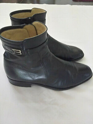 4313dea077dc Bally Black Rudy Ankle Boots w Logo Dress Men Shoes sz 9.5 Medium Made in  Italy
