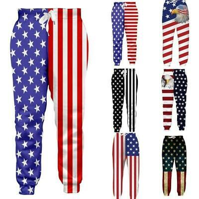 b6cfb290beeddc American Flag USA Men/Women Joggers Pants Trousers Sport Track Sweatpants  Baggy
