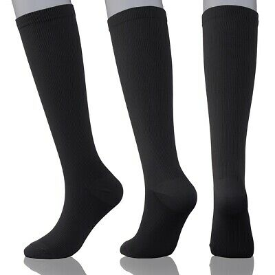 Luxury Compression Socks 15-20 mmhg (Black) Men & Women Running Travel Nurses