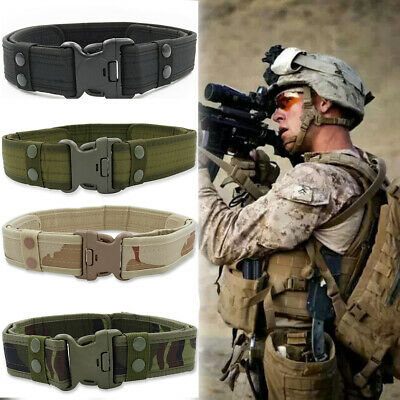 Man Outdoor Heavy Duty Army Belt Military Tactical Quick-Release 100-135cm