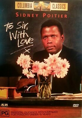 To Sir With Love (DVD) Sidney Poitier - Region 4 - Very Good Condition