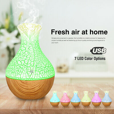 130ml Ultrasonic Aroma Difusor Humidificador Purificador 7 Colors LED Humidifier