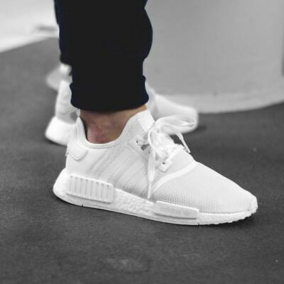 official photos dd794 95d89 ADIDAS NMD R1 Monochrome Triple White Size 13. ba7245 yeezy ultra boost pk