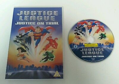DVD - Justice League On Trial Animated Feat Film DVD Warners Bros DC Comics 2001